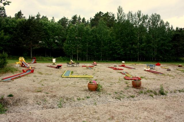 Vår golfbana med 18 hål.